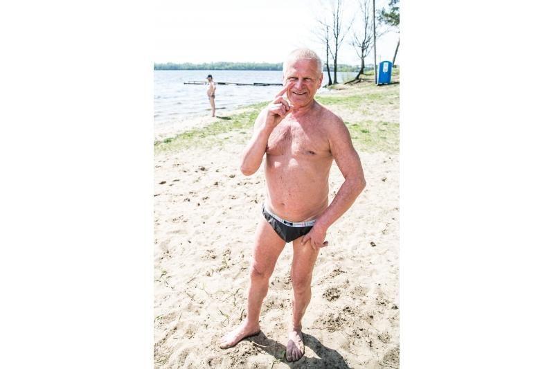 Kauno paplūdimiuose darbo dieną karaliauja pensininkai