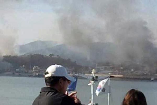 Pietų Korėjos artilerijos atsakomoji ugnis nebuvo veiksminga