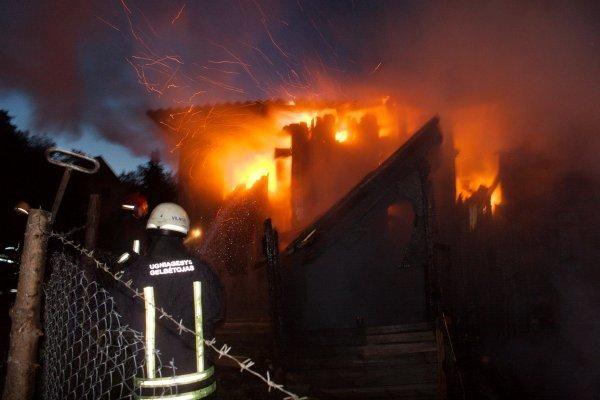 Vilniaus rajone užsidegus sodo namui gaisre žuvo vyras