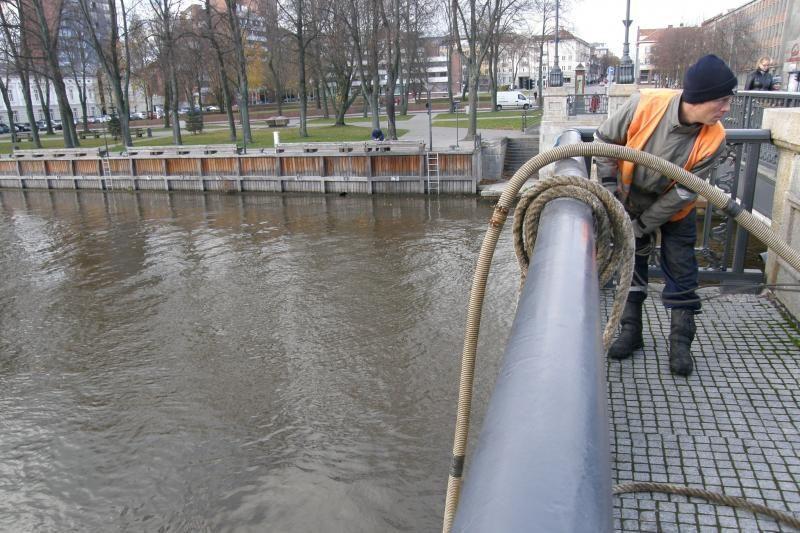 Klaipėdos Biržos tiltas ruošiamas pakėlimui
