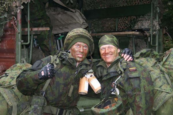 Birutės bataliono kariai dalyvavo taktinėse lauko pratybose
