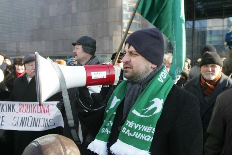 Akistatos su protestuotojais A.Zuokas nepabūgo