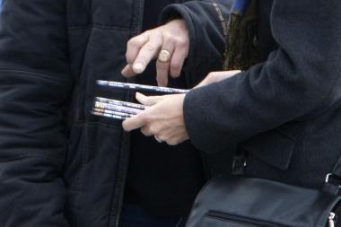 Klaipėdos turguje sulaikytas DVD pardavėjas