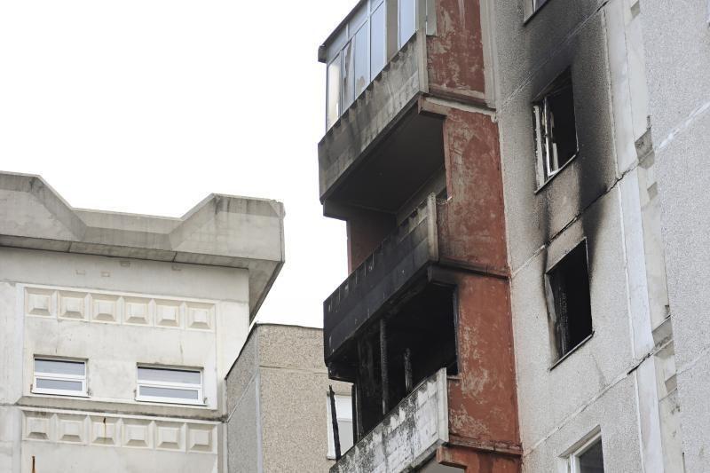 Gaisras Kauno daugiabutyje: sulaikytas antras įtariamasis