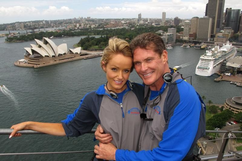 D.Hasselhoffas pasipiršo ant Sidnėjaus uosto tilto