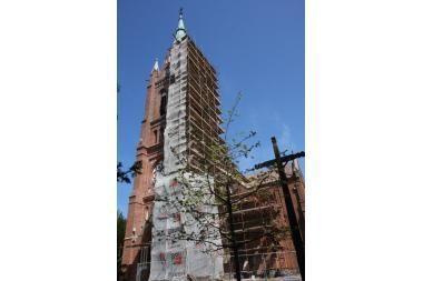 Vasarą bus baigtas Palangos bažnyčios bokšto atnaujinimas
