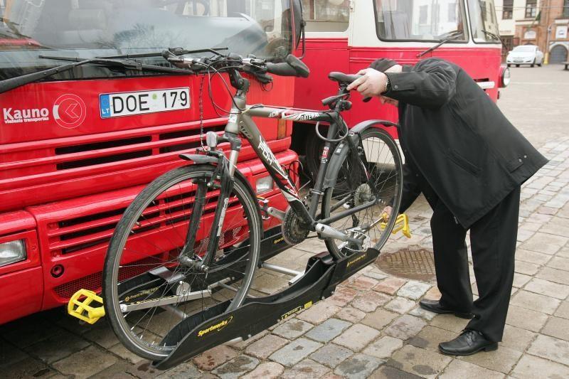 Kauniečiai autobusu galės vežtis ir dviračius