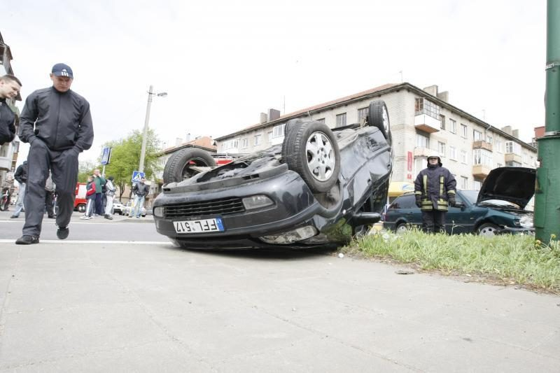 Šiurpi avarija Klaipėdoje baigėsi laimingai