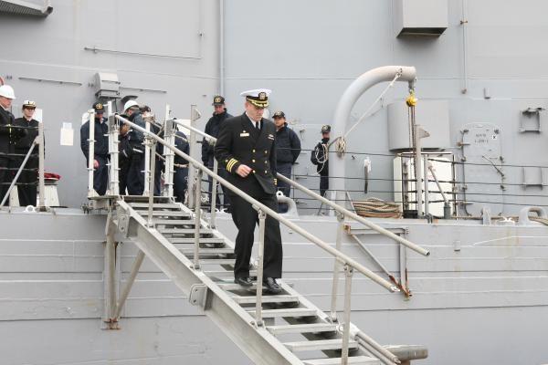 Klaipėdoje vieši JAV karinis laivas