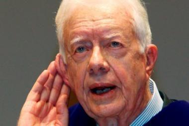 Sunegalavęs buvęs JAV prezidentas Jimmy Carteris paguldytas į ligoninę