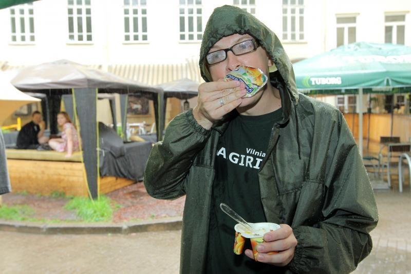 Vilniečiai pietums užvalgė varškės