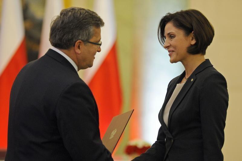 Moteris - pirmoji Lenkijos sporto ministrė