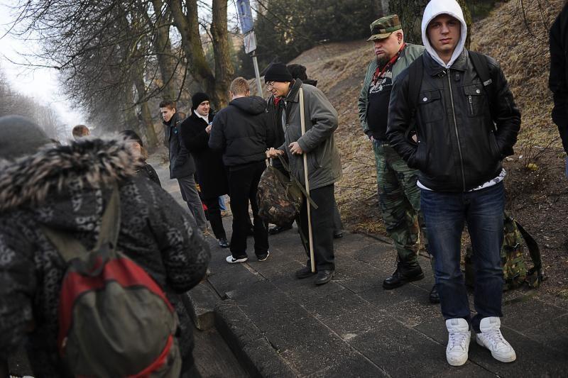 Lenkų nacionalistai: atvažiuojame taikiai (išskirtinis reportažas)