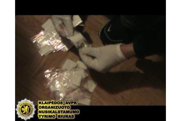 Klaipėdoje sulaikyta narkotikų platintojų gauja