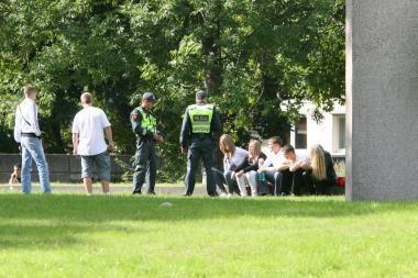 Uostamiesčio gatvėse siautėjo ratuotas jaunimas