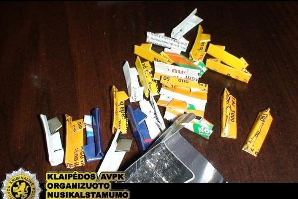 Uostamiesčio pareigūnai demaskavo narkotikų tašką