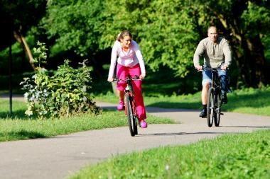 Palangoje susidūrė dviratininkai