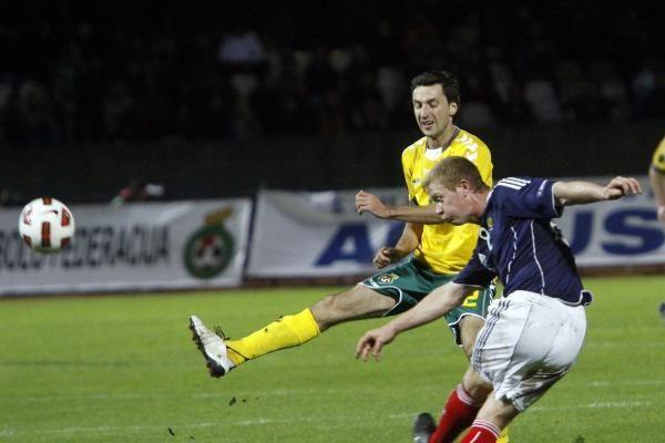 Europos futbolas: lietuviai – prieš škotus 0:0 (papildyta)