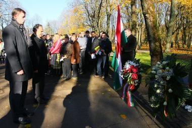 Vengrijos ambasadorius Kaune pagerbė kovotojus prieš okupaciją