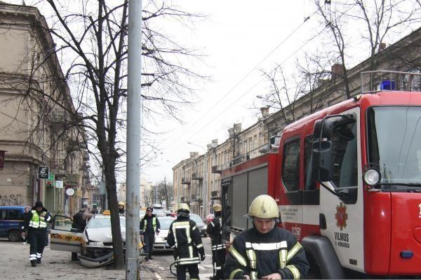 Per avariją Vilniuje sužalota taksi keleivė