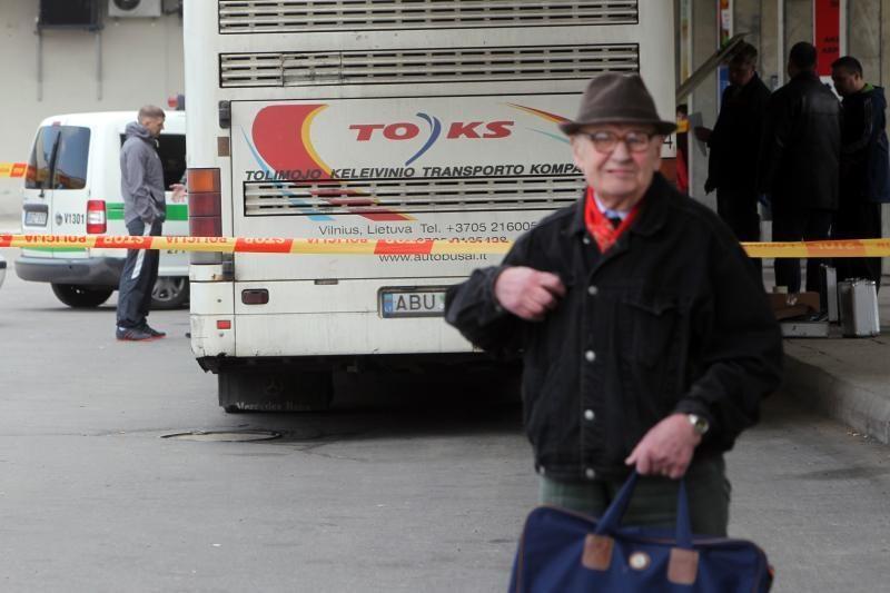 Iš Minsko į Vilnių atvykusiame autobuse rastas sprogmuo