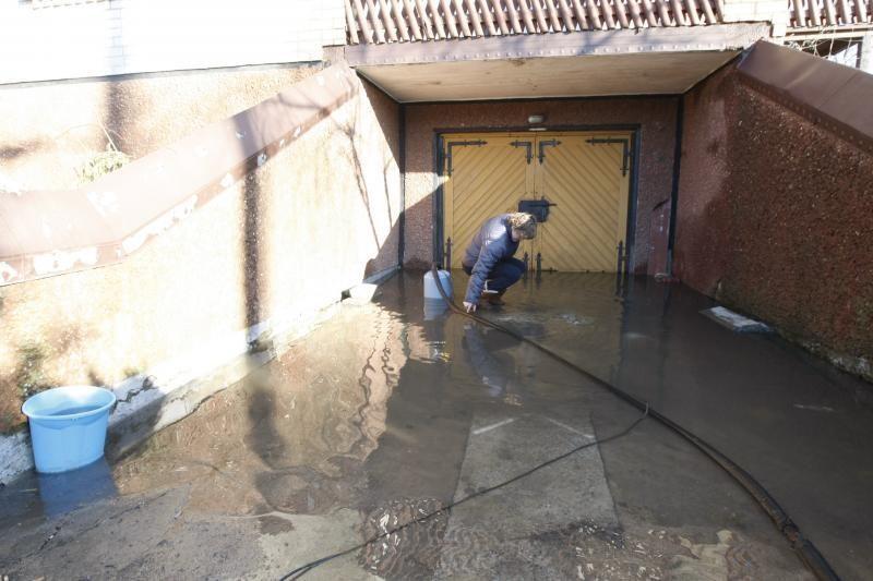 Klaipėdoje vanduo semia privačių namų rūsius