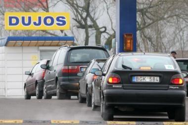Pajūrio vairuotojai dažniausiai perka dujas