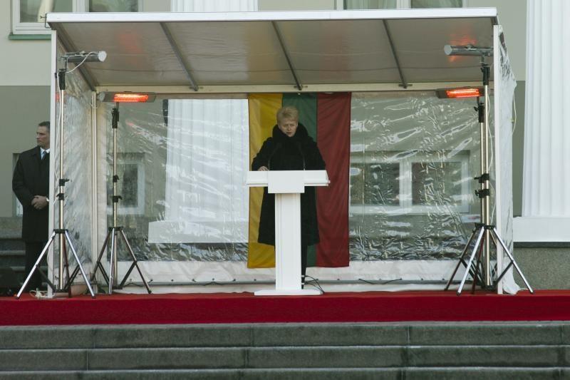 Minint Vasario 16-ąją prezidentė prašneko apie klanus ir korupciją