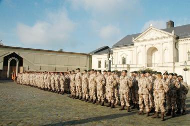 Teatro aikštėje – karių iš Afganistano sutikimas
