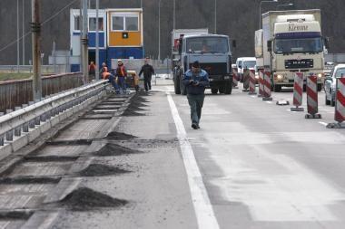 Pradėtas Č.Radzinausko tilto remontas