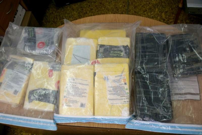 Bananų dėžėse aptikta apie 11 kilogramų kokaino