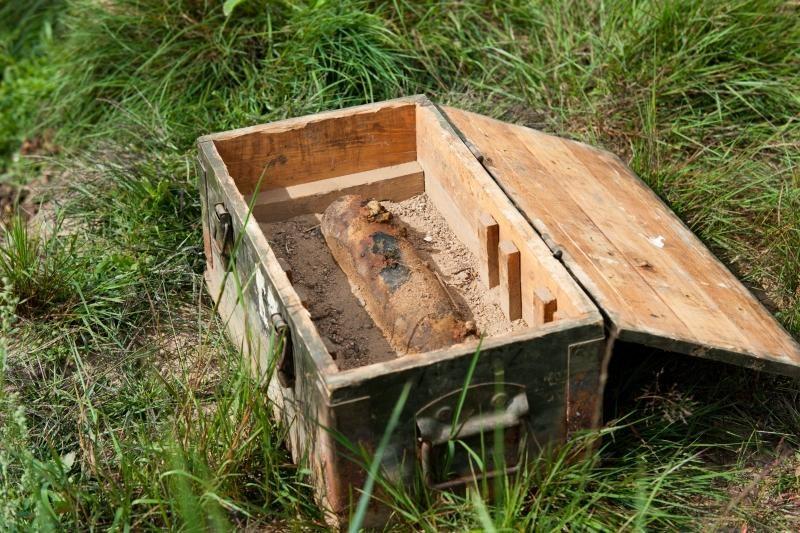 Valė upę, rado vokiečių artilerijos sviedinį
