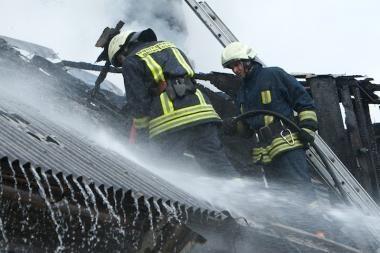 Kėdainiuose padegtas ūkinis pastatas