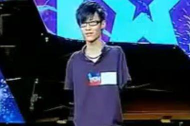 Kinijos talentų šou laimėjo berankis pianistas