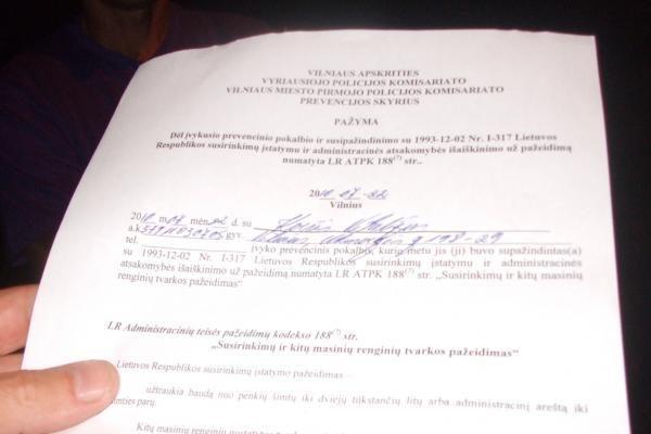 Badaujantys D.Kedžio šalininkai policijos nesulaukė