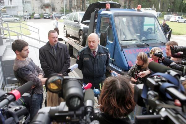 Nesugaunamasis vagių automobilis įkliuvo sostinės pareigūnams