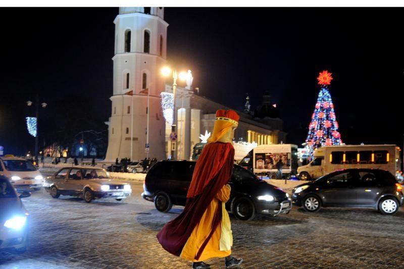 Su Kalėdų eglutėmis Vilniuje atsisveikinti atėjo ir Trys karaliai