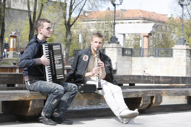 Šeštadienį Klaipėdos gatvėse siaus muzika