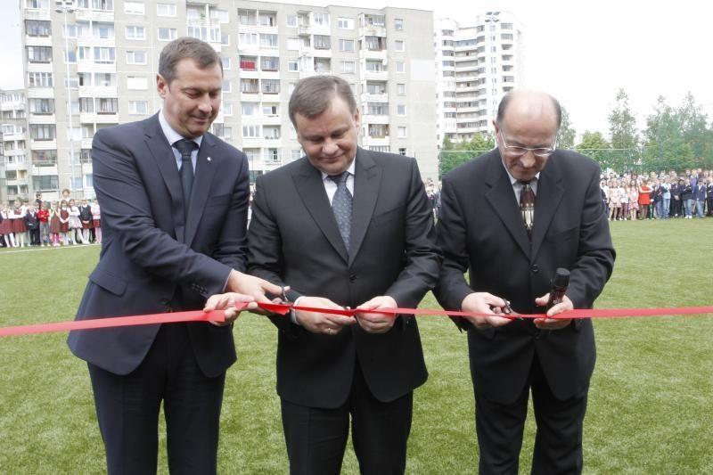 Fabijoniškėse vartus atvėrė naujas futbolo stadionas