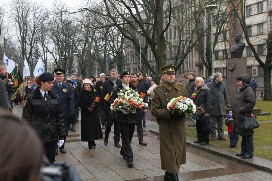 Vasario 16-ąją Kaunas atšventė su muzika ir šokiais