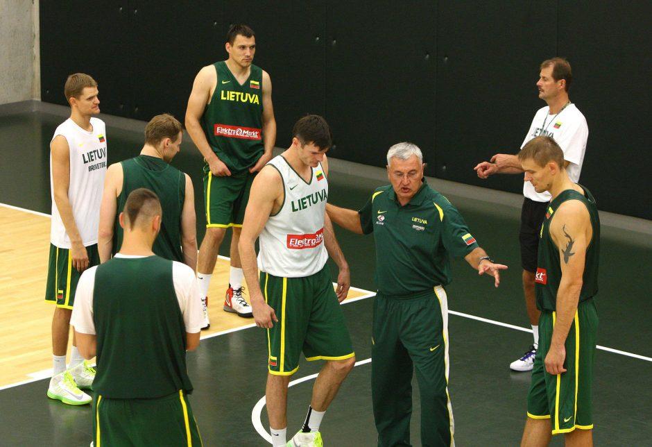 Krepšinio rinktinės treniruotė