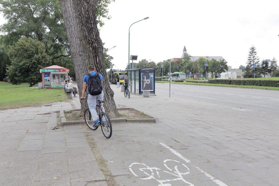 Uostamiesčio dviratininkai jaučiasi kaip minų lauke