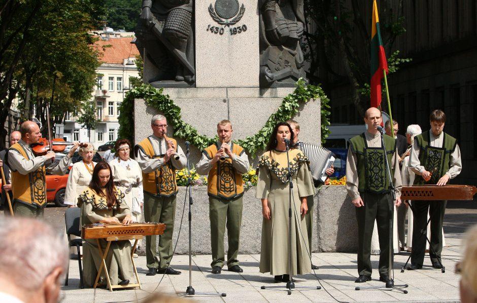 Kaune aidint dainoms prisimintas Žalgirio mūšis