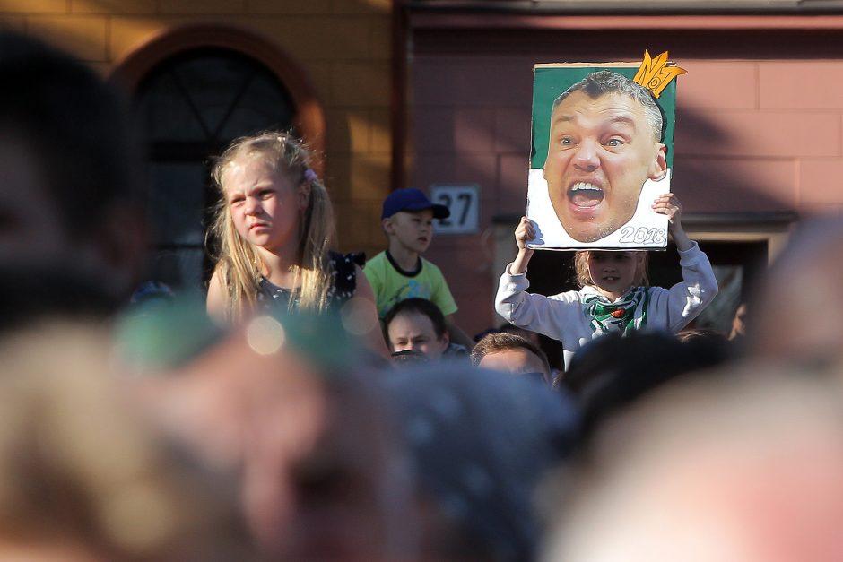 """""""Žalgirio"""" sutikimas Kaune"""