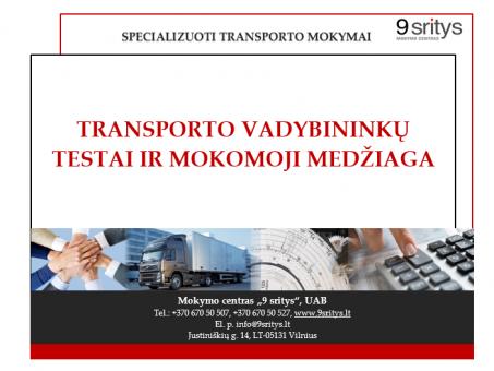 Skelbimas - TRANSPORTO VADYBININKO KURSAI VILNIUJE