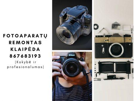 Skelbimas - fotoaparatu remontas Klaipeda 867683193