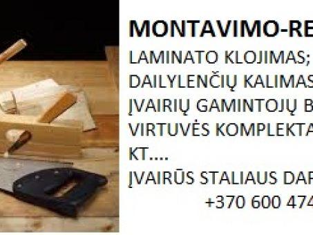 Skelbimas - MONTAVIMO-REMONTO DARBAI