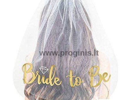 """Skelbimas - NUOTAKOS VELIUMAS """"BRIDE TO BE"""""""