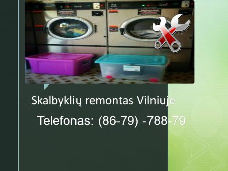 Skelbimas - Skalbykliu remontas Vilniuje 867978879