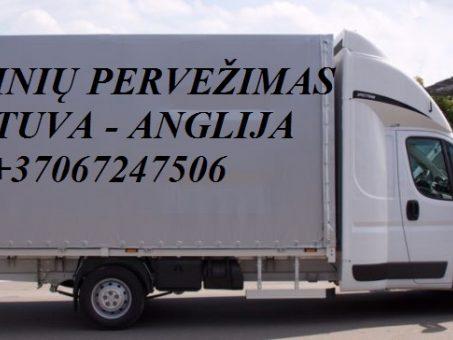 Skelbimas - Tarptautiniai perkraustymai Lietuva-ANGLIJA-Lietuva.